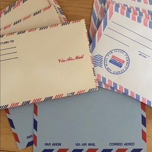 Vintage Air Mail Envelopes